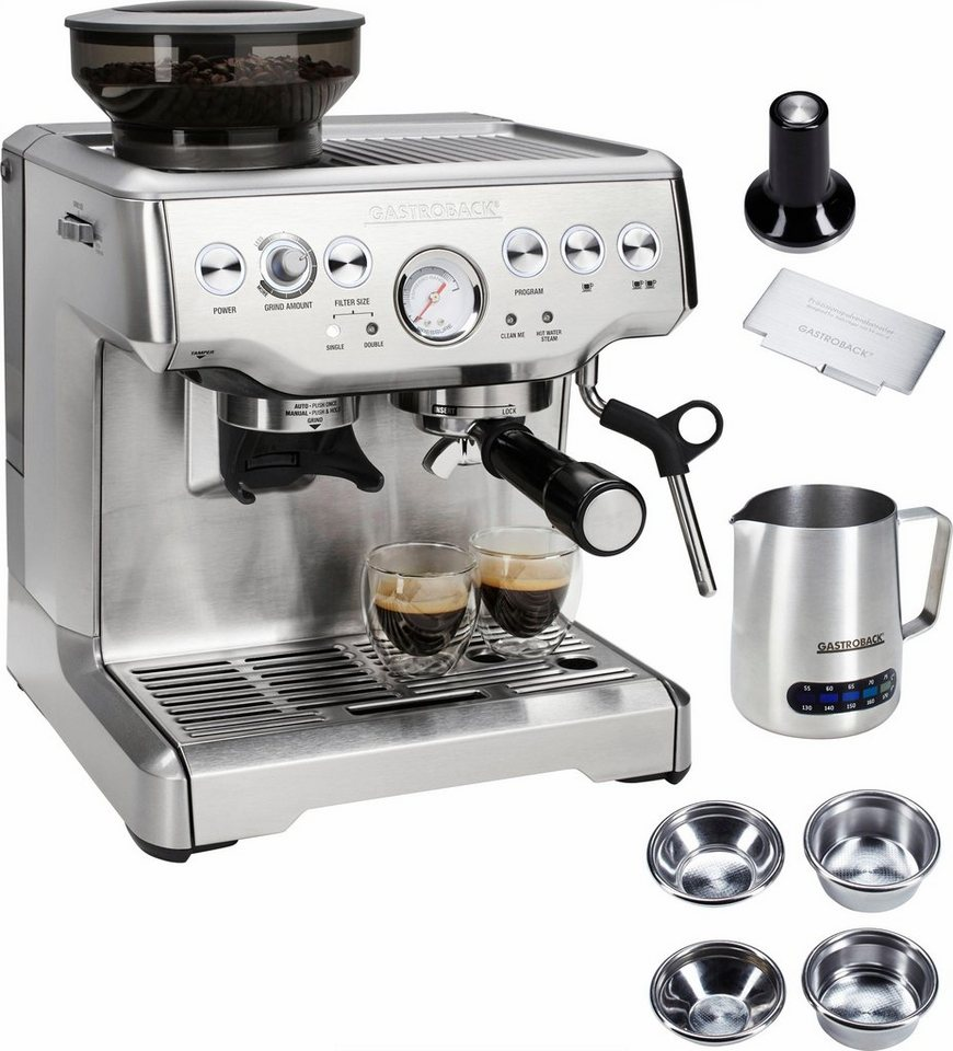 gastroback siebtr germaschine design espresso advanced pro gs integriertes kegelmahlwerk online. Black Bedroom Furniture Sets. Home Design Ideas