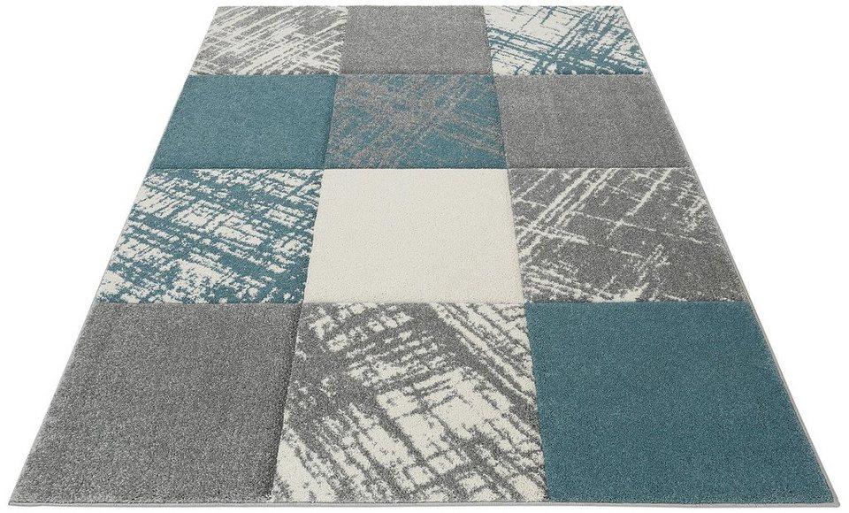 Teppich, my home, »Galina«, gewebt in blau