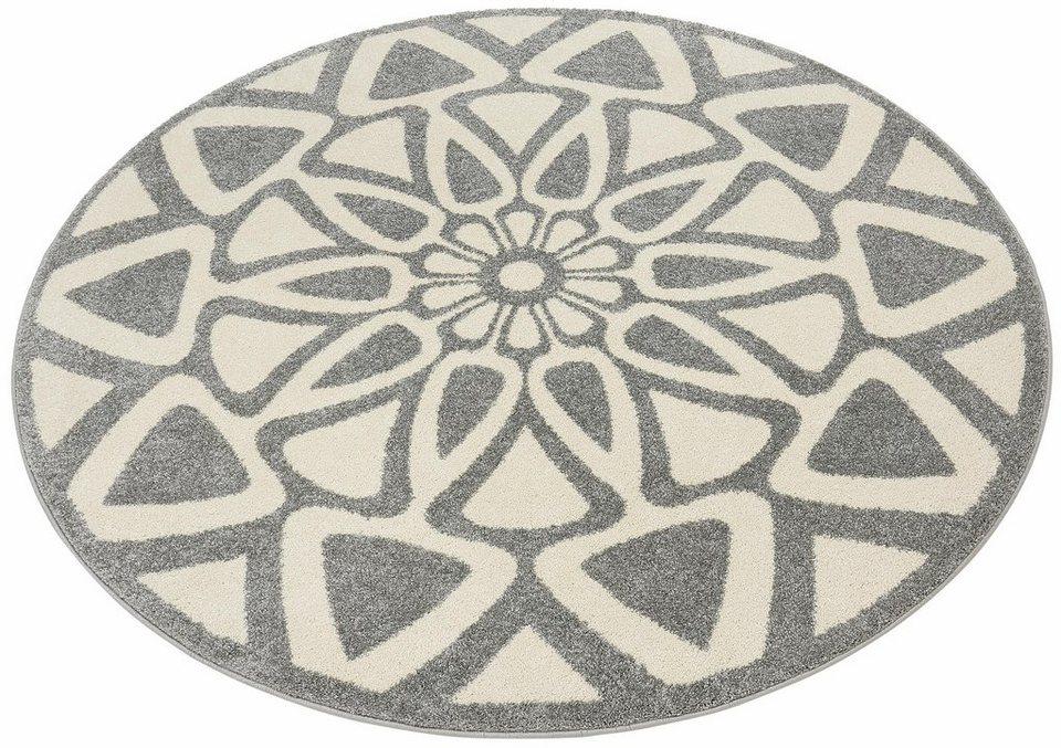 Teppich, rund, Home affaire Collection, »Talea«, gewebt in grau