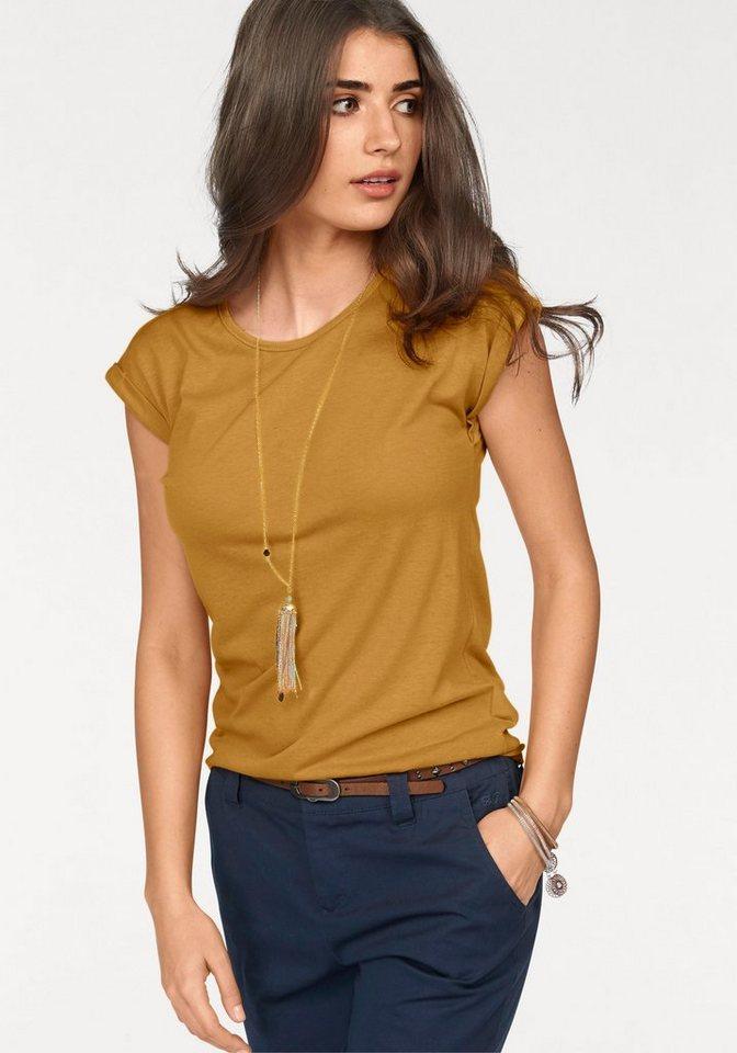 Boysen's T-Shirt mit überschnittenen Schultern in curry