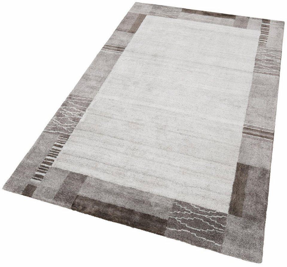 Teppich, Theko exklusiv, »Elegance 1«, handgetuftet in braun