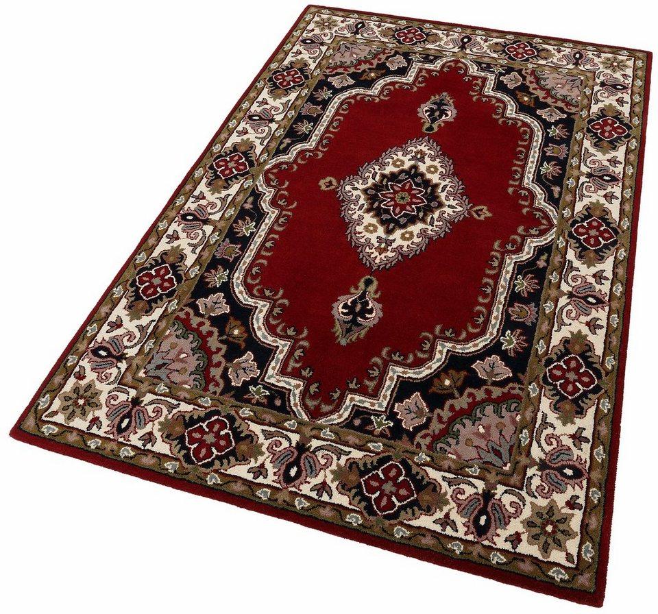 Orient-Teppich, Theko exklusiv, »Royal Kirman«, reine Schurwolle, handgetuftet in rot