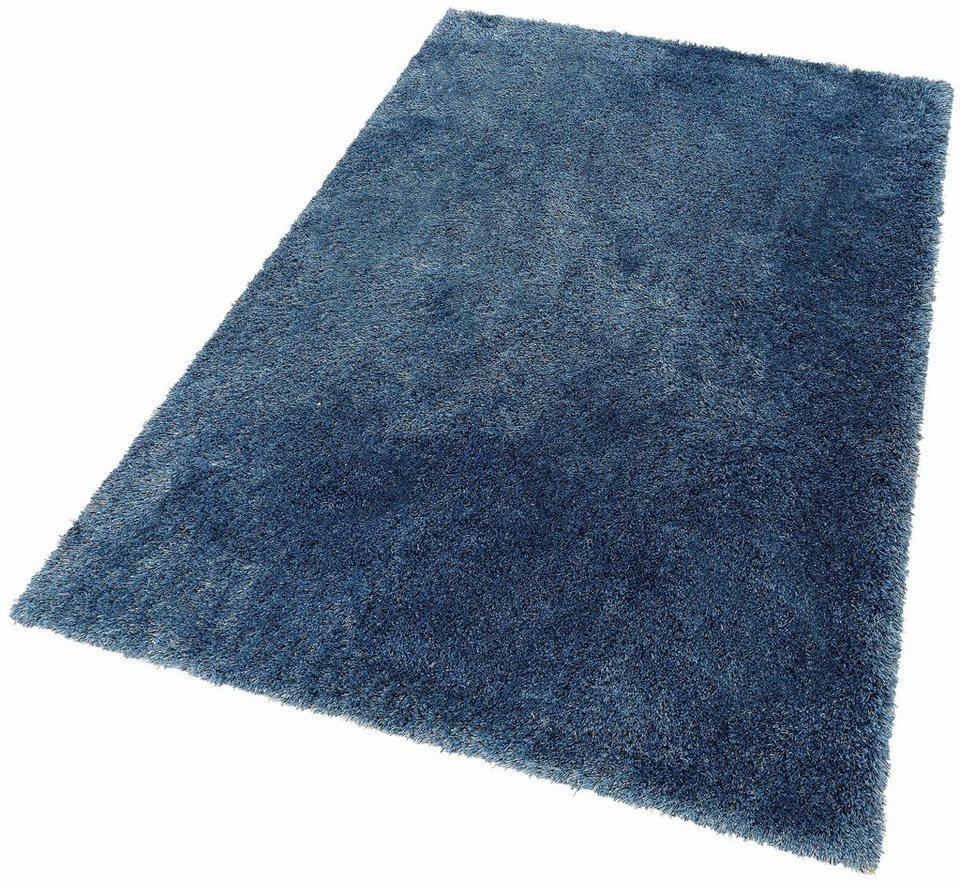 Hochflor-Teppich, Home affaire Collection, »Olfa«, Höhe 52 mm, gewebt in blau