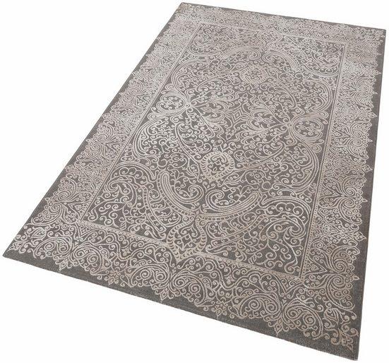 Teppich »Naomi«, merinos, rechteckig, Höhe 12 mm, Vintage Design, Hoch-Tief-Effekt