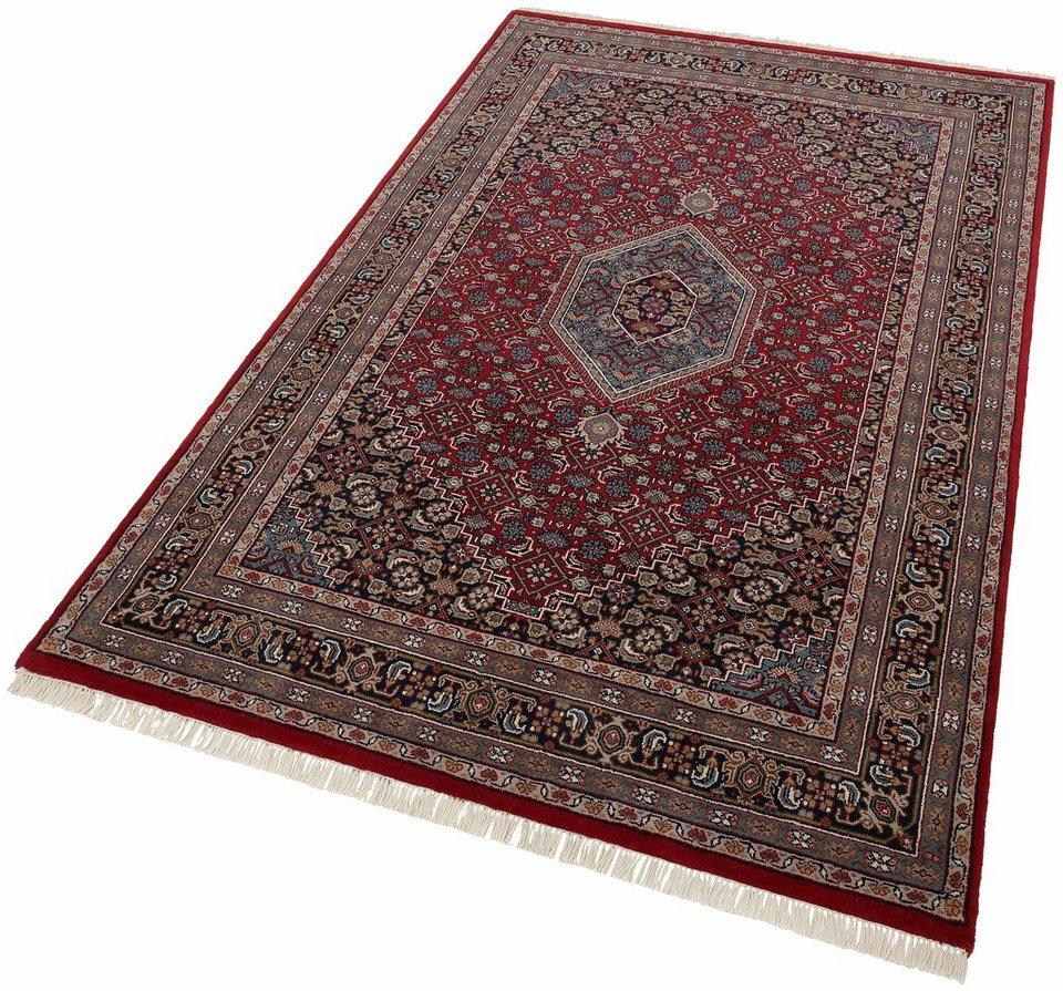 Orient-Teppich, Theko exklusiv, »Benares Bidjar«, handgeknüpft, ca. 155.000 Knoten/m² in rot