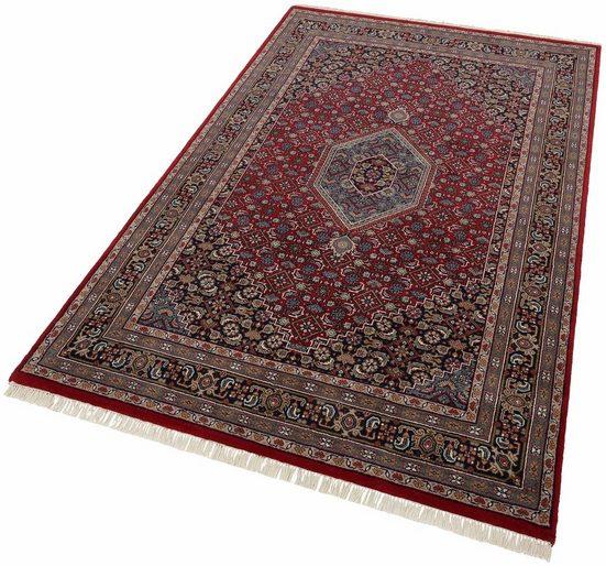Orientteppich »Benares Bidjar«, THEKO, rechteckig, Höhe 12 mm, reine Wolle, handgeknüpft, mit Fransen, Wohnzimmer