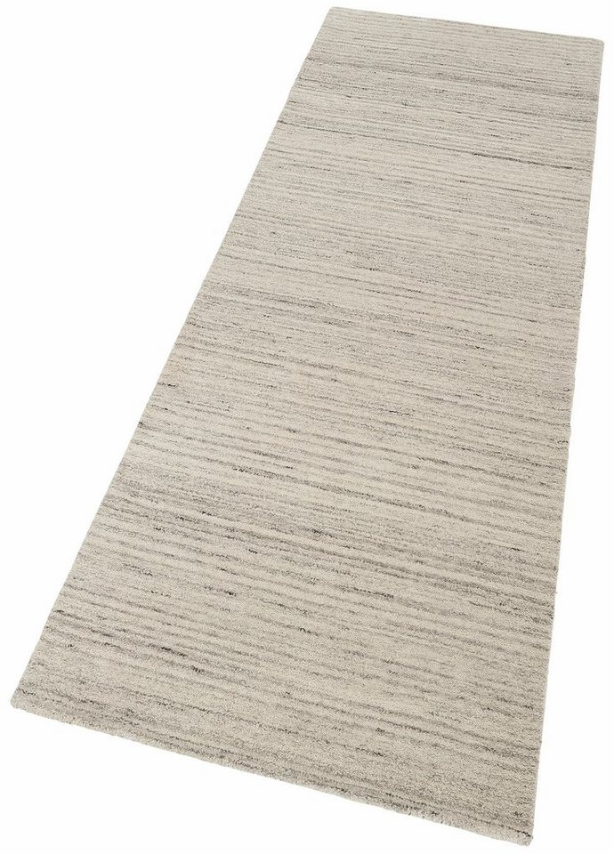 Läufer »Natural 3«, Theko exklusiv, rechteckig, Höhe 10 mm in grau