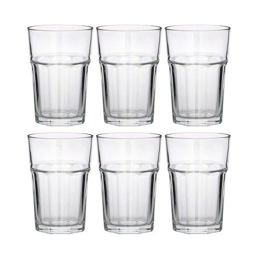 BUTLERS Longdrinkglas »GIBRALTAR 6x Glas 360ml«, Glas, 6x Trinkglas 360ml - Wasserglas, Saftglas