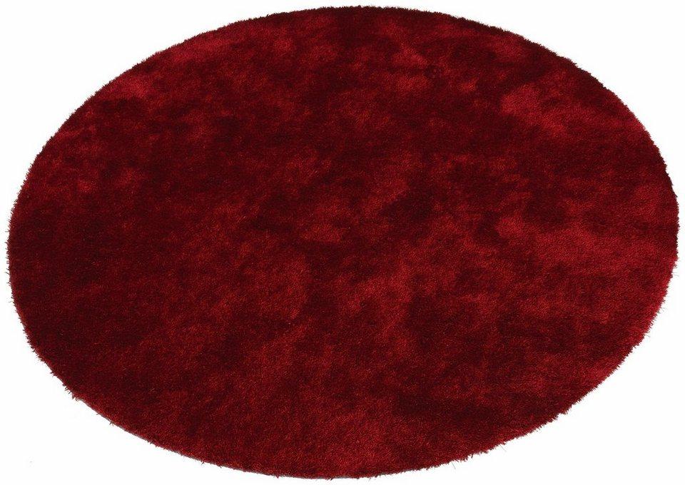 Hochflor-Teppich, rund, Bruno Banani, »Dana«, Höhe 30 mm, handgetuftet in rot