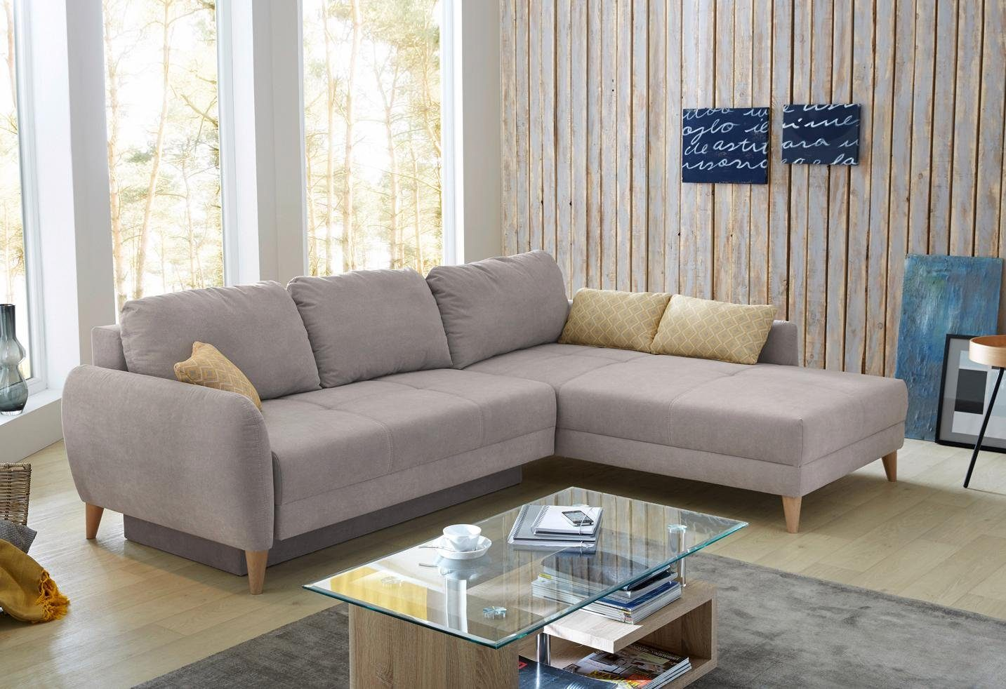 Home affaire Ecksofa, mit Bettfunktion