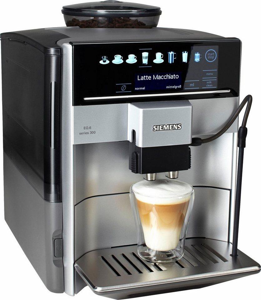 Siemens Kaffeevollautomat EQ.6 series 300 TE613501DE, silber in silber