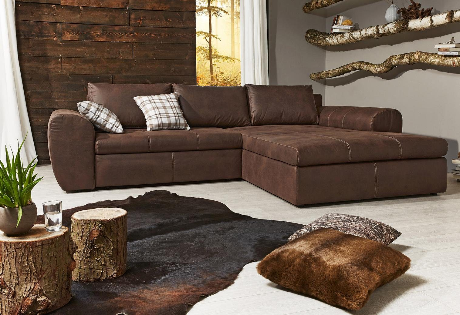 Home affaire Ecksofa mit Bettfunktion