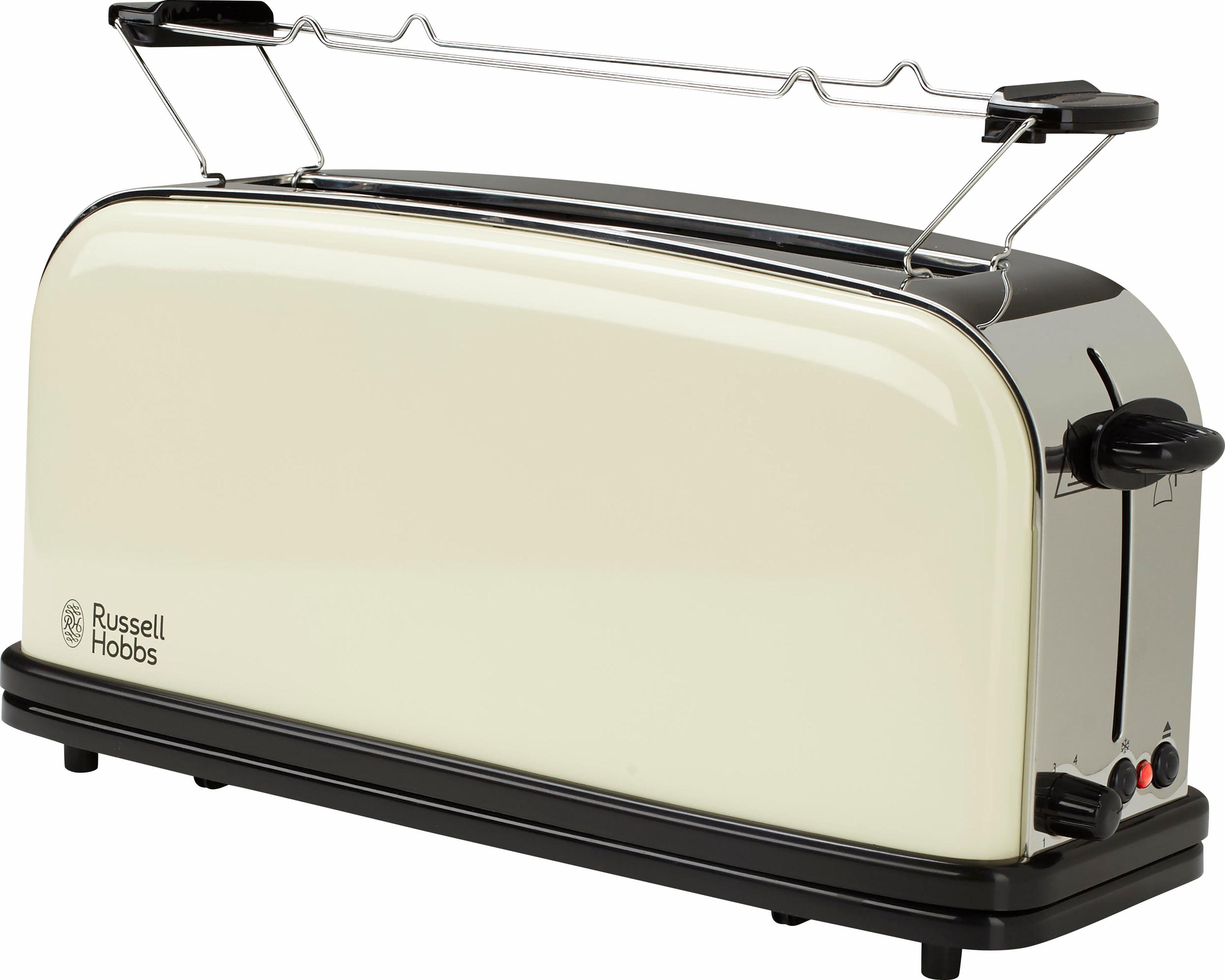 Russell Hobbs Langschlitz-Toaster Colours Plus+ Classic Cream 21395-56, 1000 Watt