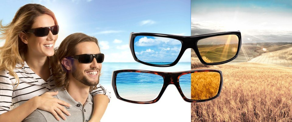Polaryte Sonnenbrillen-Set, »Polaryte-Set« in braun / schwarz
