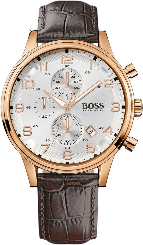 Boss Chronograph »AEROLINER CHRONO, 1512519« in braun