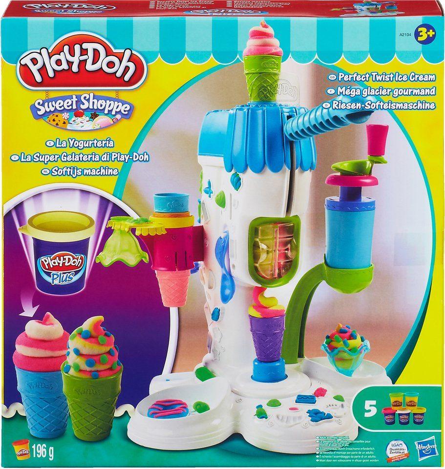 Hasbro Knete Set + Gratis: 6 Dosen Konfetti-Knete, »Play-Doh Riesen-Softeismaschine«