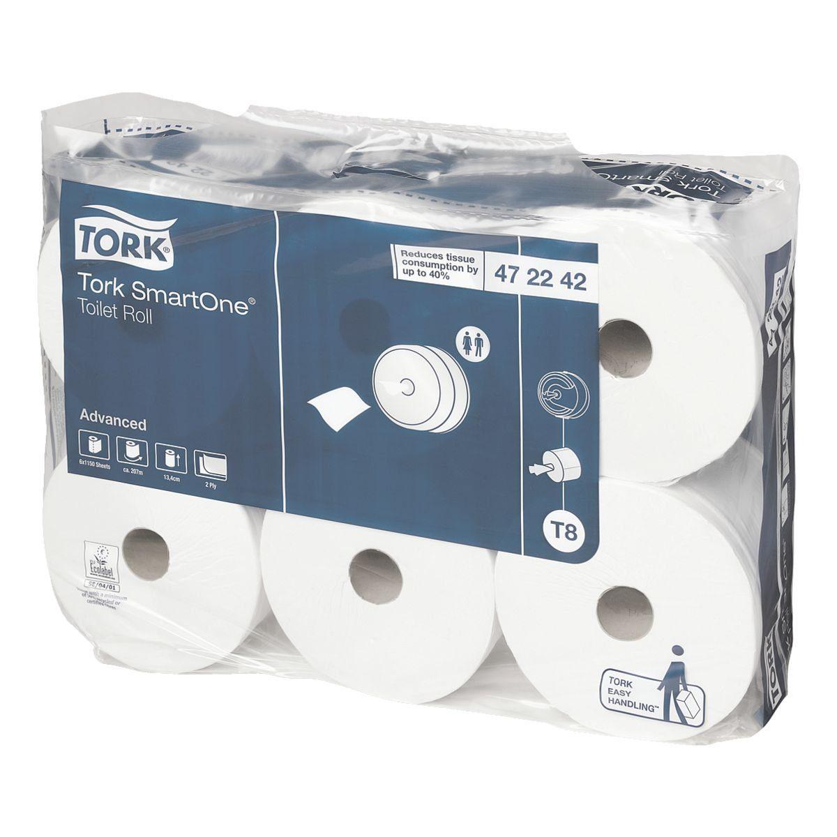 TORK Toilettenpapier T8 System 2-lagig - 6 Rollen »SmartOne®«