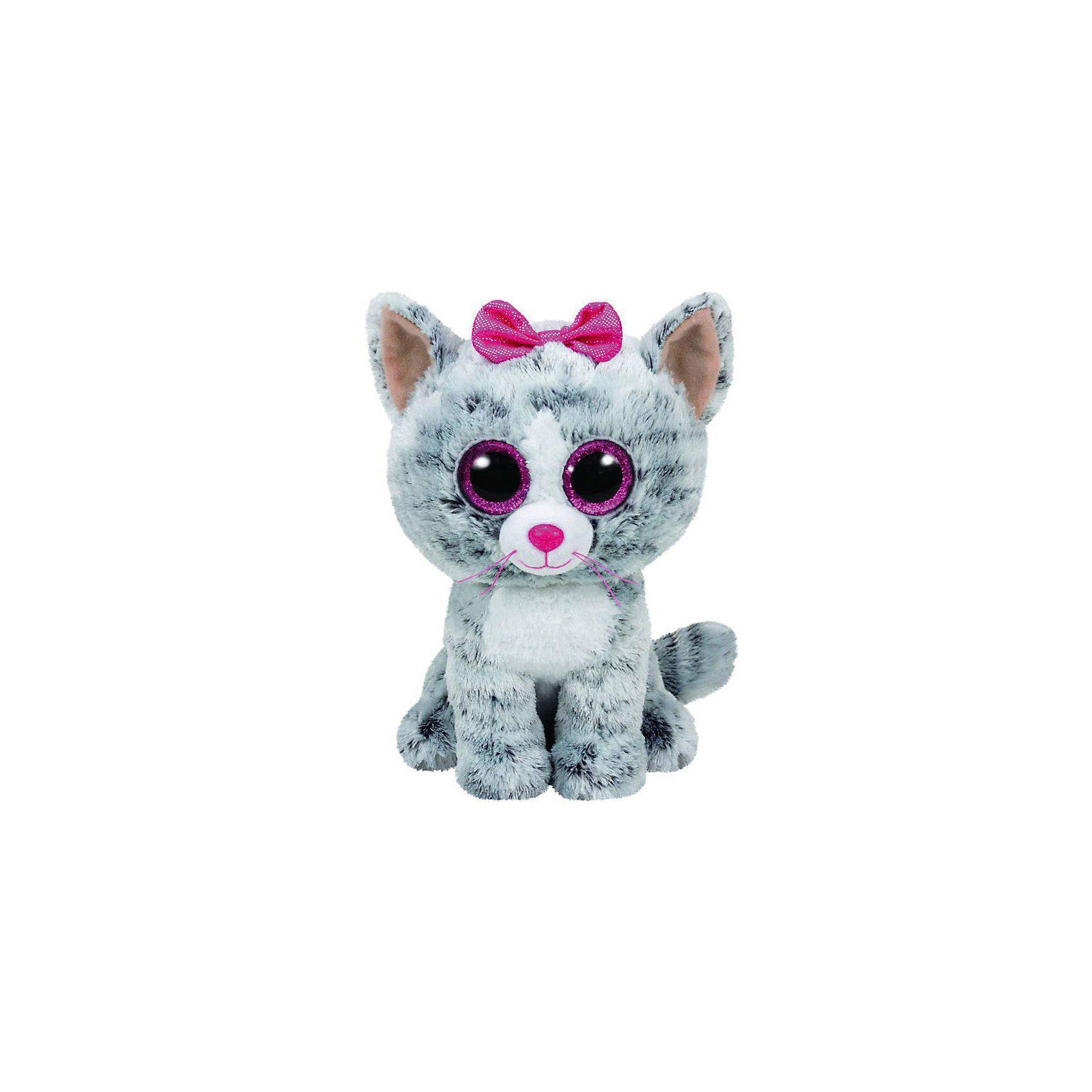Ty Beanie Boo Kiki Katze grau, 24cm
