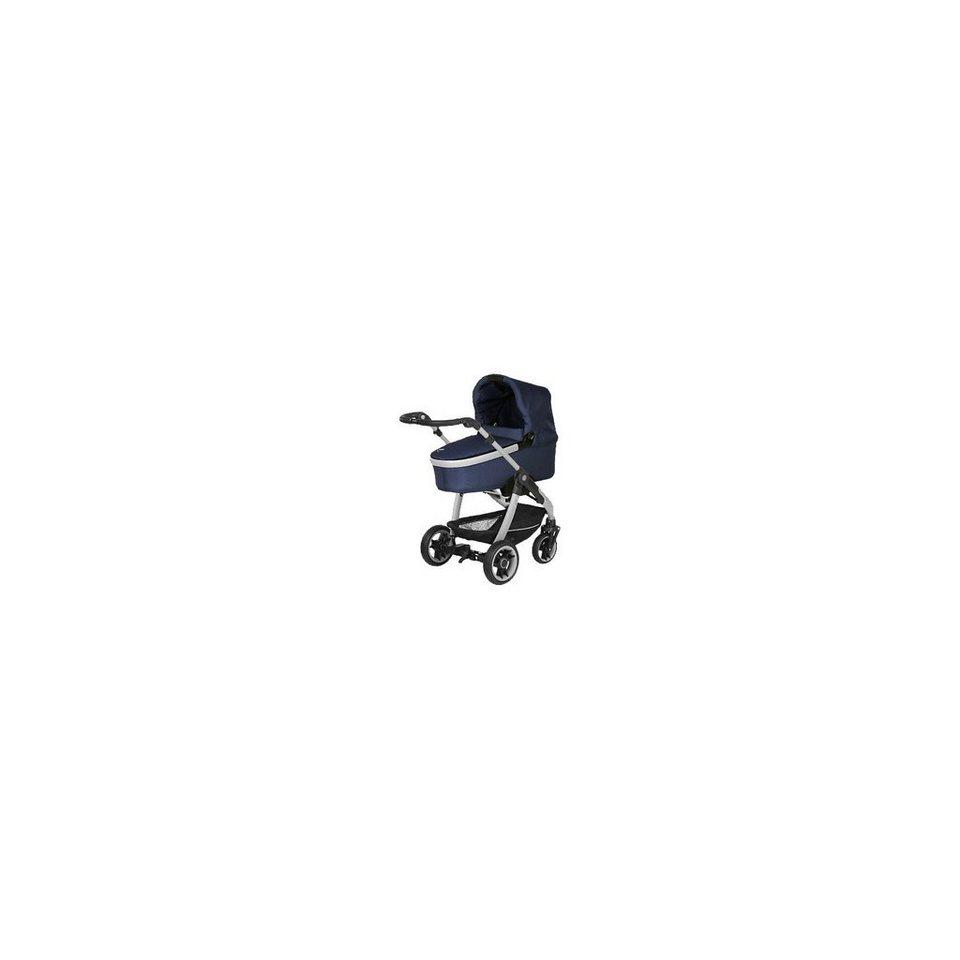 Teutonia Kombi-Kinderwagen Cosmo V4 inkl. Gestelltragetasche, Atlanti in blau/grau