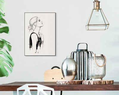 Reinders! Wandbild »Slim Frame Black 50x70 Golden Female«