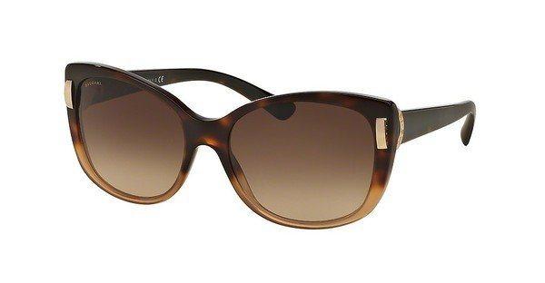 Bvlgari Damen Sonnenbrille » BV8170« in 536213 - braun/braun