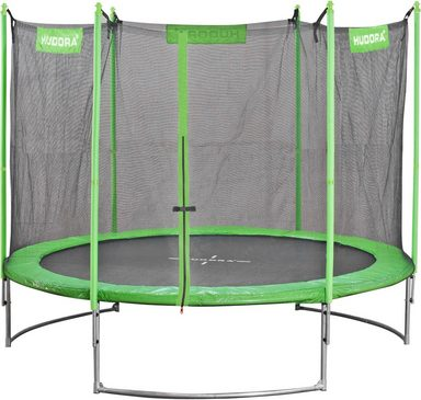 hudora gartentrampolin family trampolin 250 250 cm set mit sicherheitsnetz online. Black Bedroom Furniture Sets. Home Design Ideas