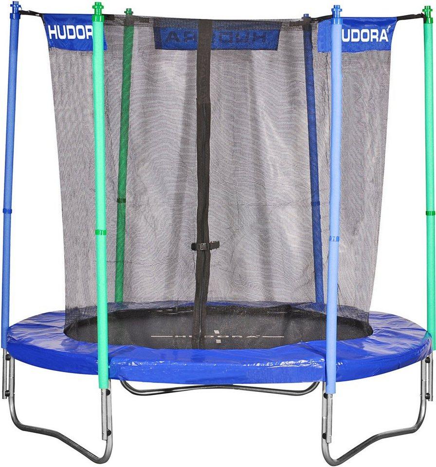 hudora gartentrampolin trampolin 200 200 cm set mit sicherheitsnetz online kaufen otto. Black Bedroom Furniture Sets. Home Design Ideas