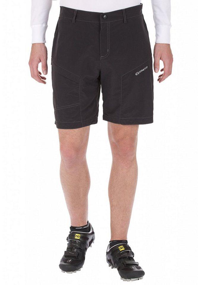 Gonso Radhose »Neval Bike-Shorts Herren Black« in schwarz