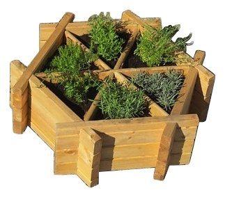 Promadino Pflanzkasten »Kräuterrad« in 2 Größen | Garten > Pflanzen > Pflanzkästen | promadino