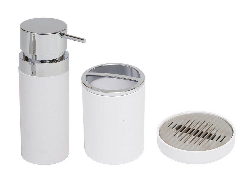 Badorganizer »3 teiliges Design Set« in weiß/chrom