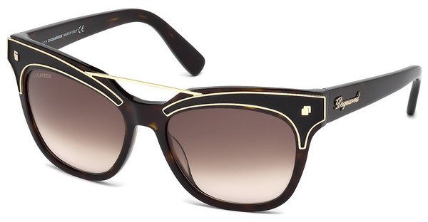 Dsquared² Damen Sonnenbrille » DQ0216« in 52F - braun/braun