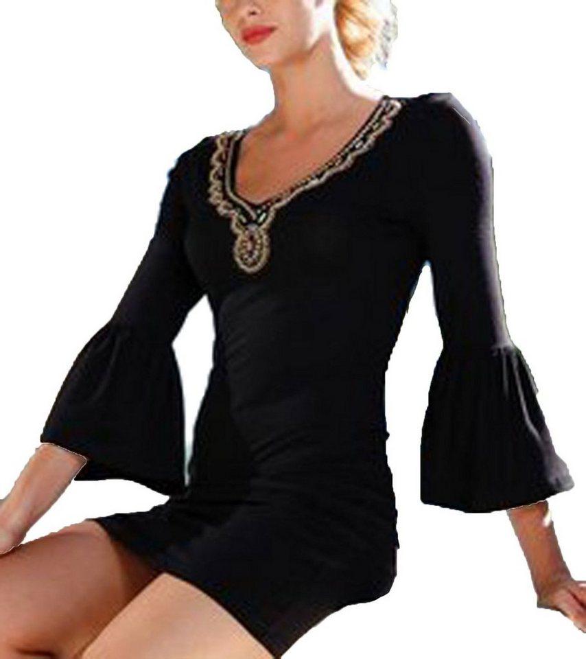 Melrose Jerseykleid Melrose Kleid Elegantes Damen Abend Kleid Aus Weicher Viskose Mode Kleid Schwarz Online Kaufen Otto