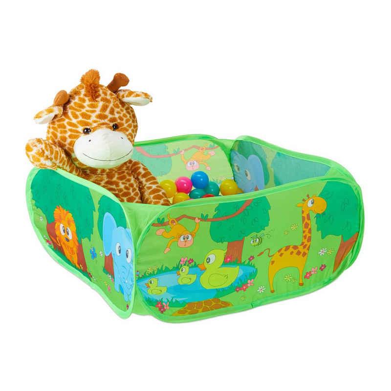 relaxdays Bällebad »Baby Bällebad Dschungel mit 50 Bällen«