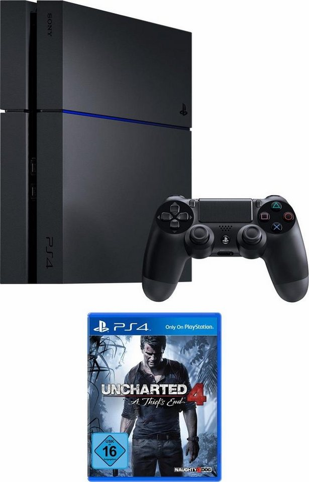 playstation 4 ps4 modell cuh 1200 500gb uncharted 4 a. Black Bedroom Furniture Sets. Home Design Ideas
