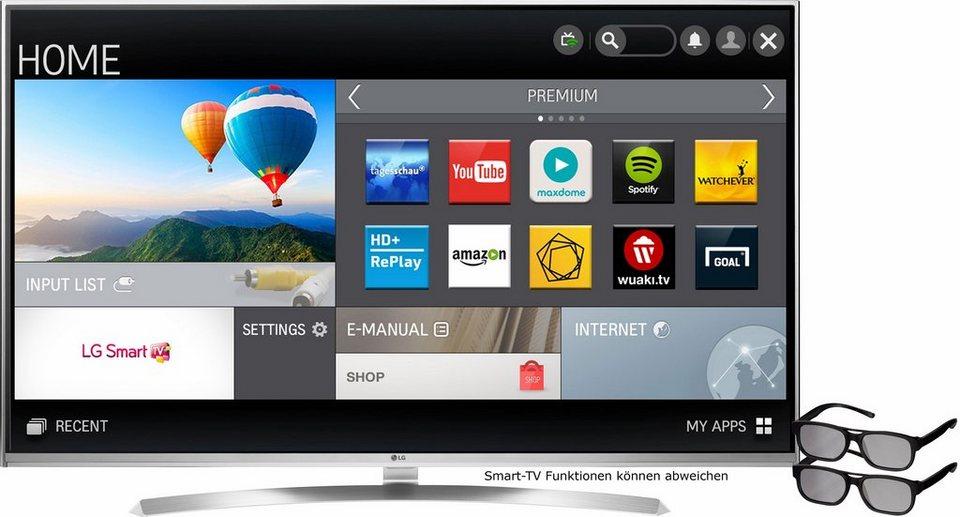 LG 49UH8509, LED Fernseher, 123 cm (49 Zoll), 2160p (4K Ultra HD), Smart-TV in silberfarben