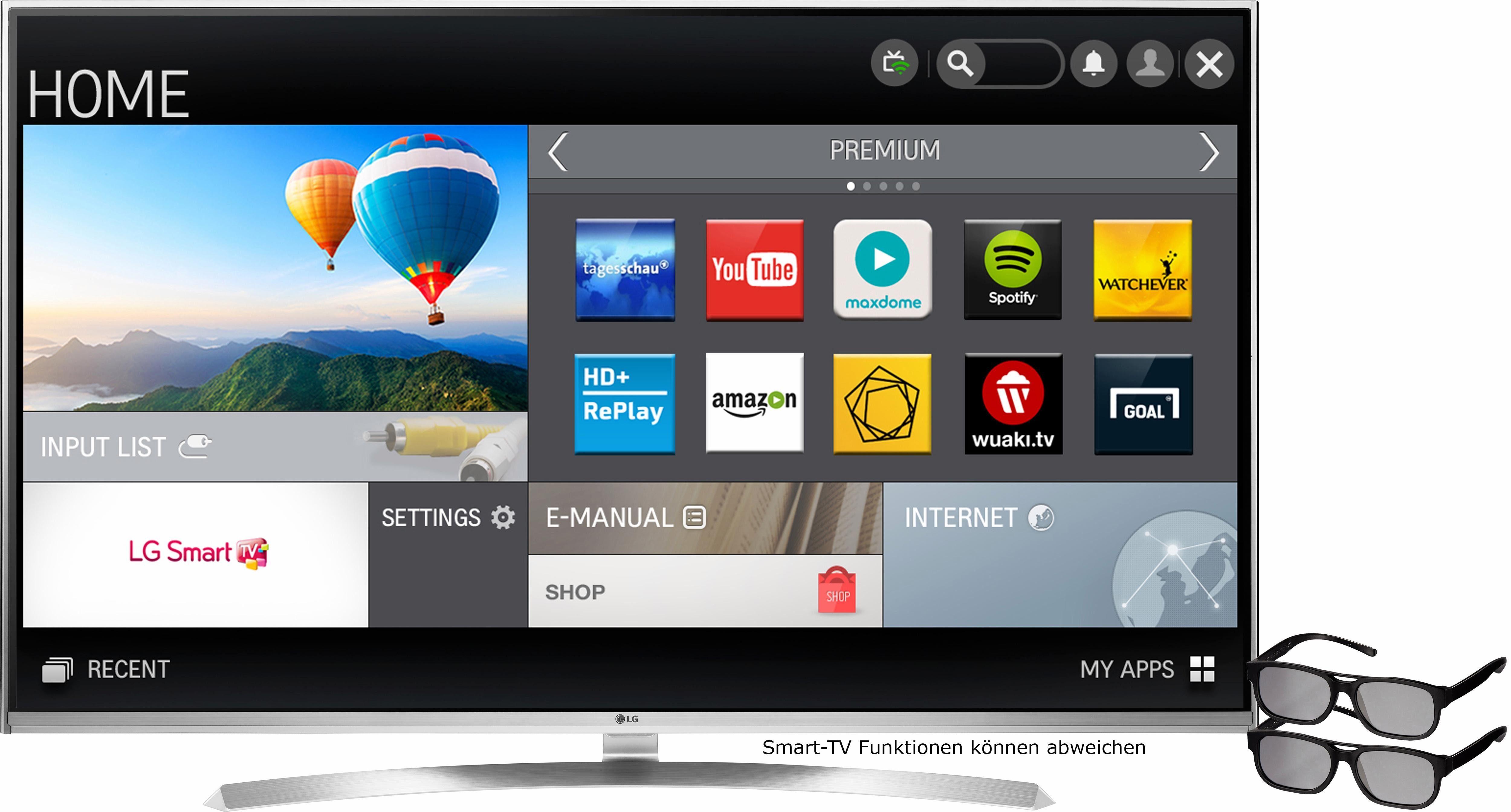 LG 55UH8509, LED Fernseher, 139 cm (55 Zoll), 2160p (4K Ultra HD), Smart-TV