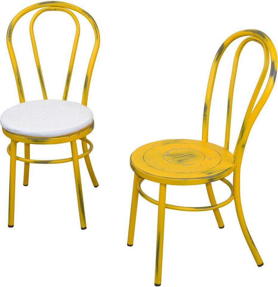 Verzauberkunst Metall Stuhl Galerie Von Farbe: Hellblau
