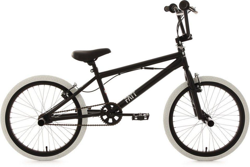 KS Cycling BMX Fahrrad, 20 Zoll, schwarz, »Fatt« in schwarz