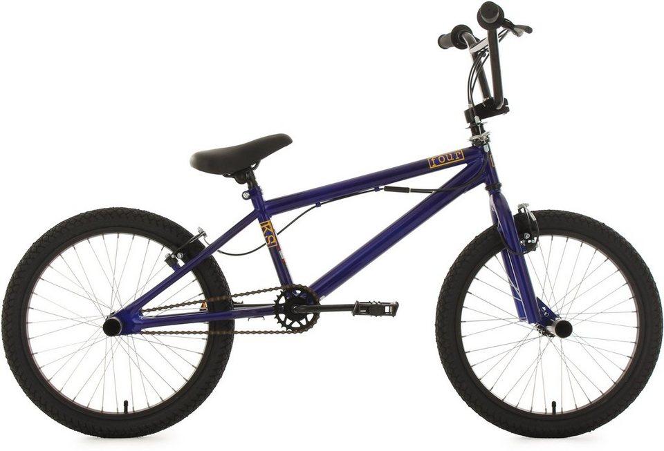 KS Cycling BMX Fahrrad, 20 Zoll, blau, »Four« in blau