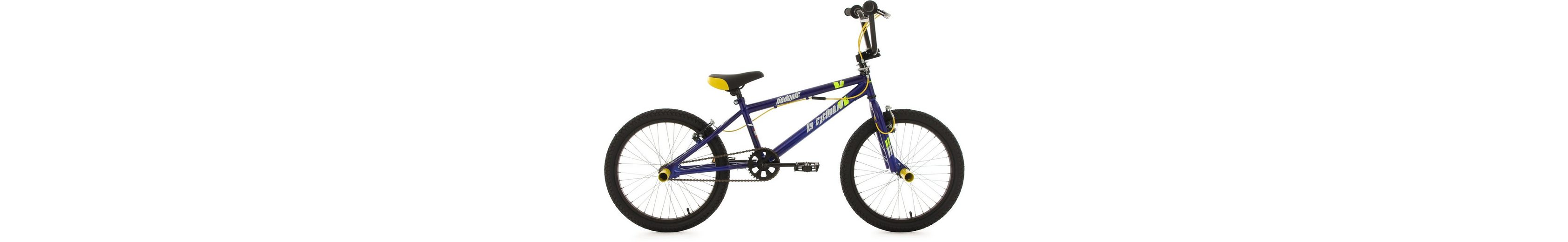 KS Cycling BMX Fahrrad, 20 Zoll, blau-gelb, »Hedonic«