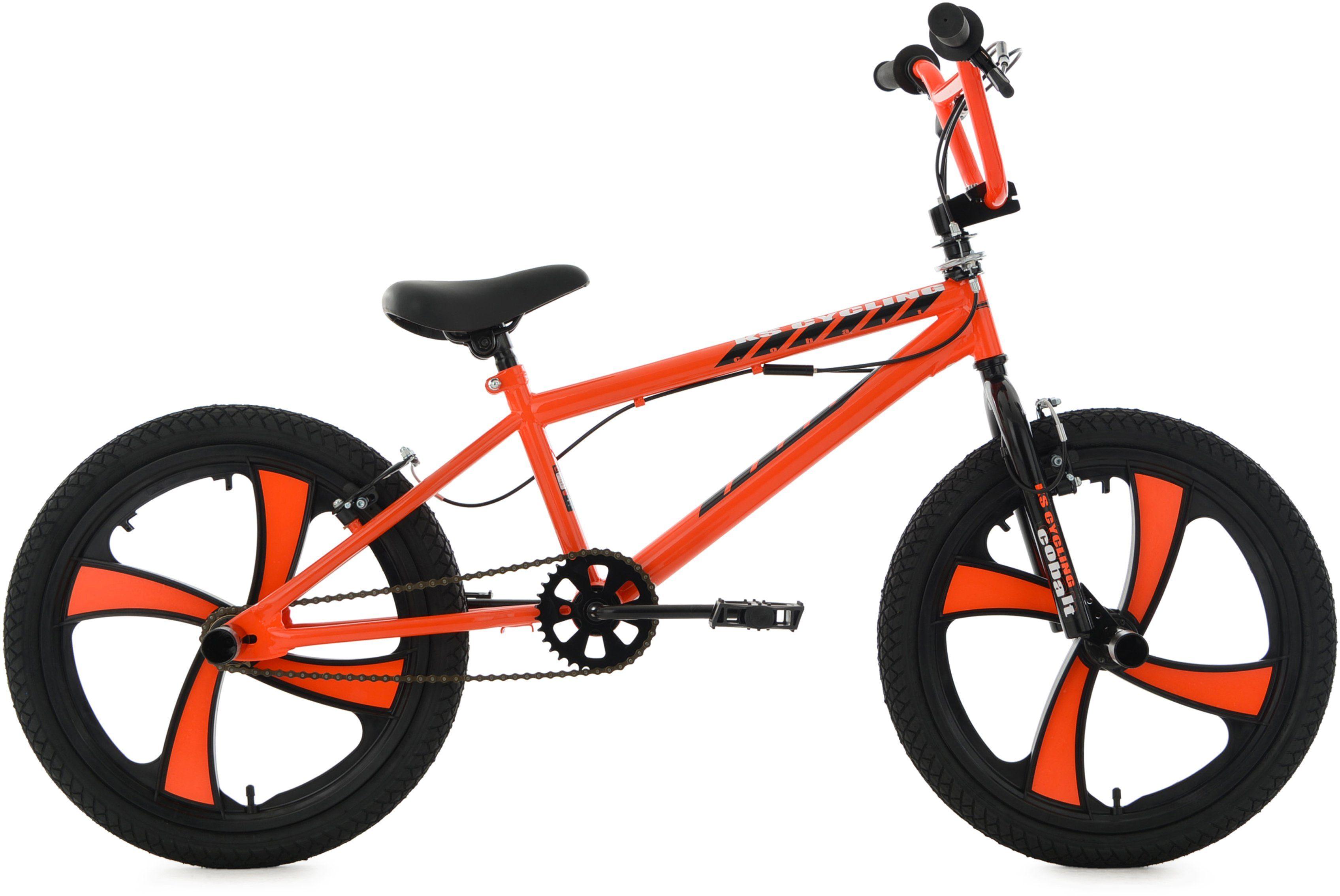 KS Cycling BMX Fahrrad, 20 Zoll, orange, »Cobalt«