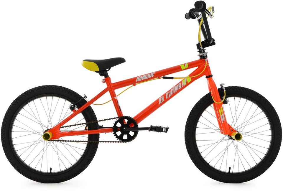 ks cycling bmx fahrrad 20 zoll orange gelb hedonic. Black Bedroom Furniture Sets. Home Design Ideas