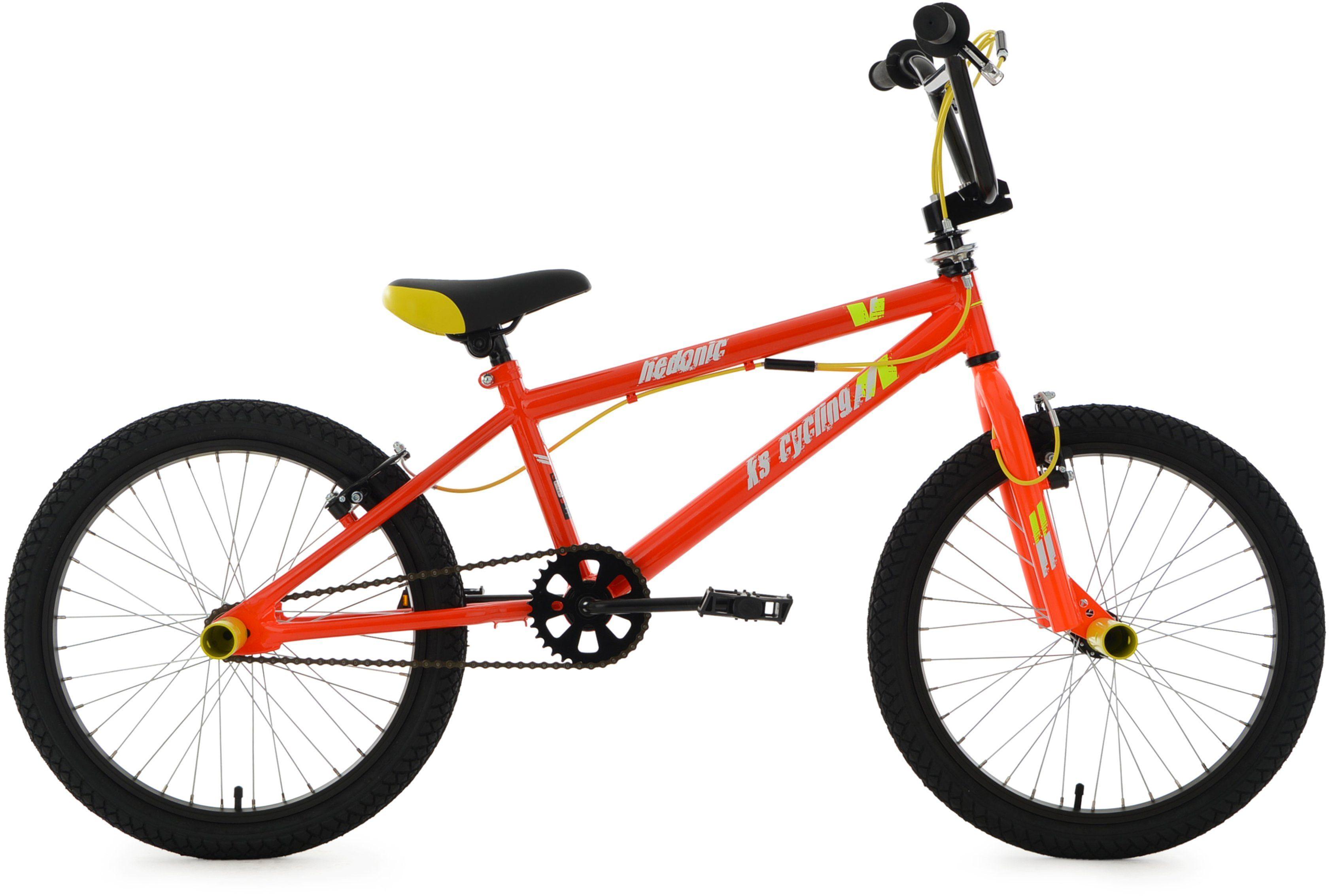 KS Cycling BMX Fahrrad, 20 Zoll, orange-gelb, »Hedonic«