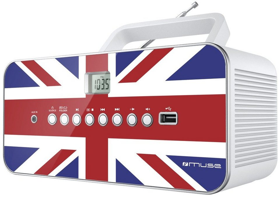 Muse Portables Radio im England Design »M-28 UK« in mehrfarbig