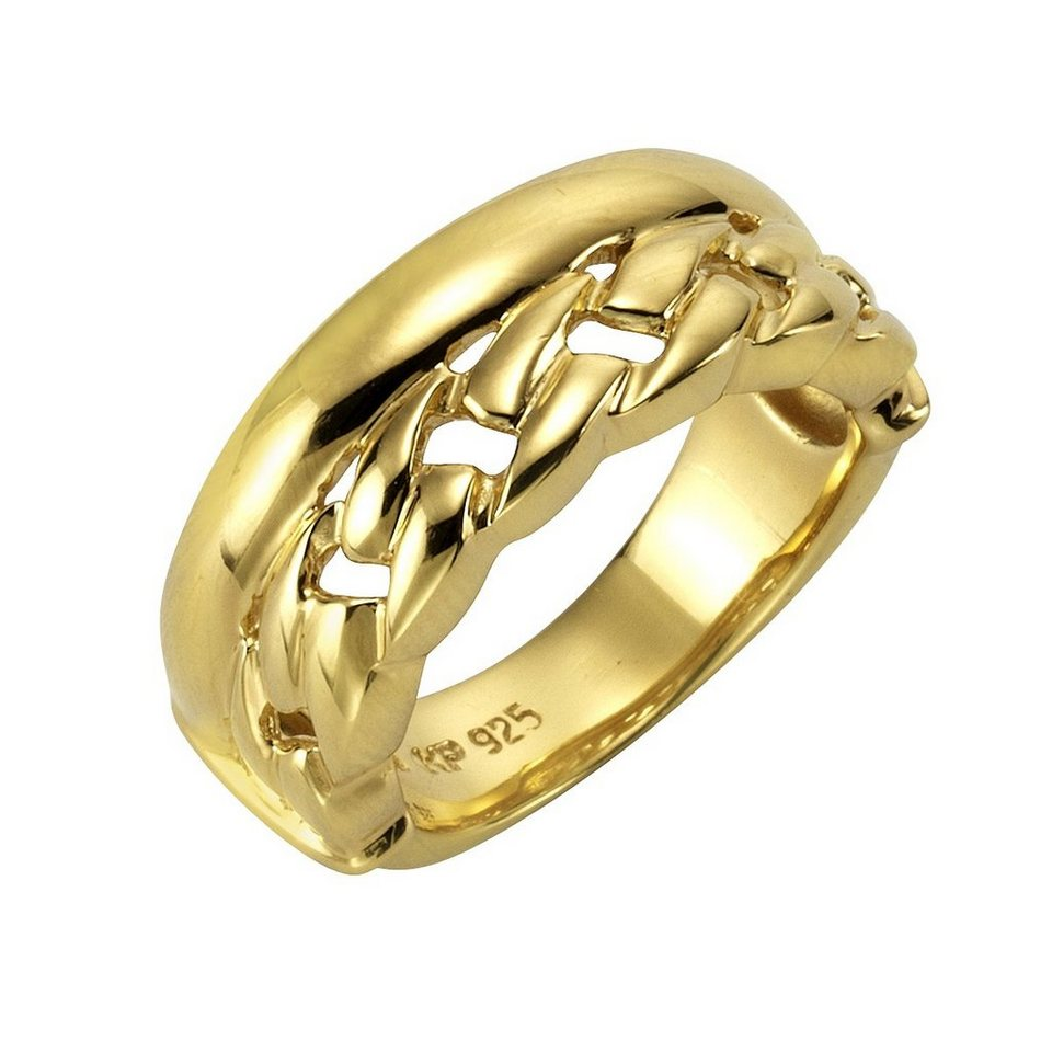 CELESTA Ring »925/- Sterling Silber vergoldet« in gelb