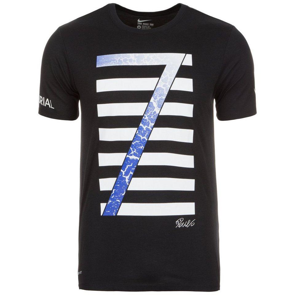 NIKE Ronaldo Logo T-Shirt Herren in schwarz