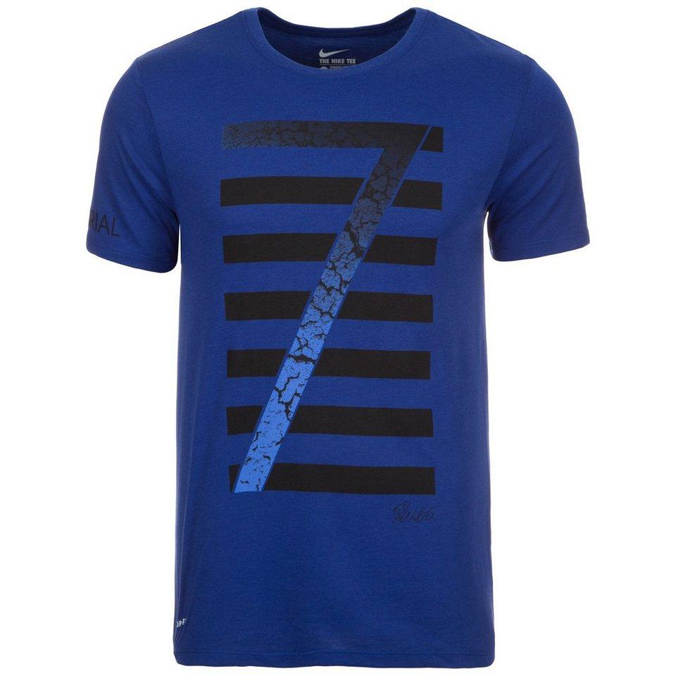 NIKE Ronaldo Logo T-Shirt Herren in blau