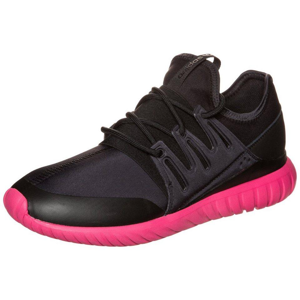 adidas Originals Tubular Radial Sneaker Herren in schwarz / pink