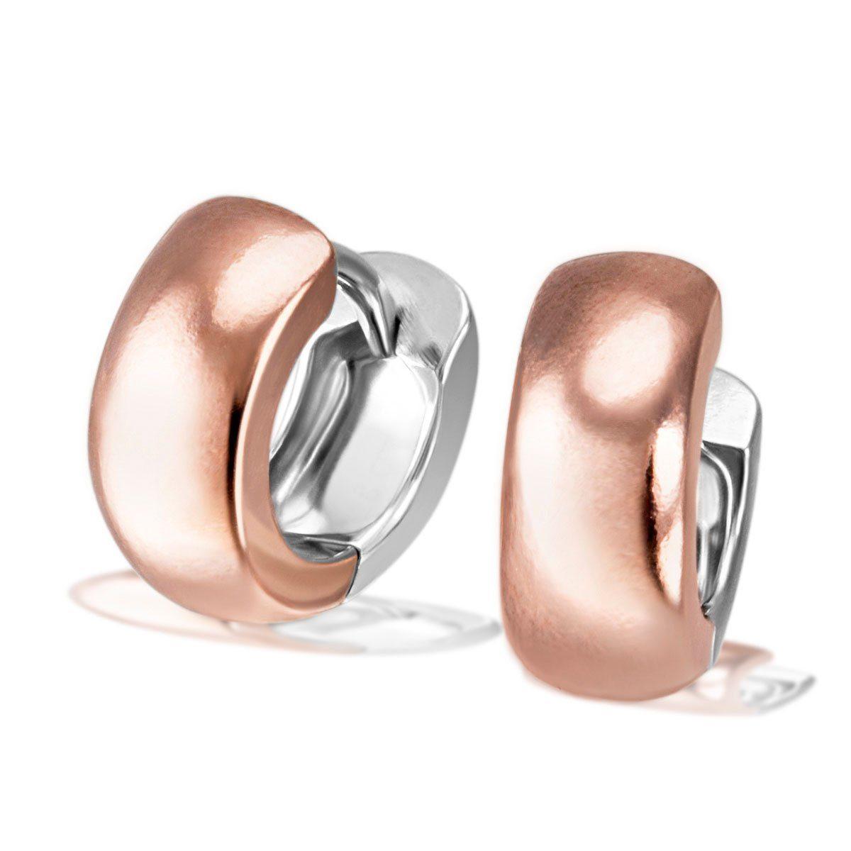 goldmaid Paar Creolen weiche und breite Form 925/- Sterlingsilber teilwei