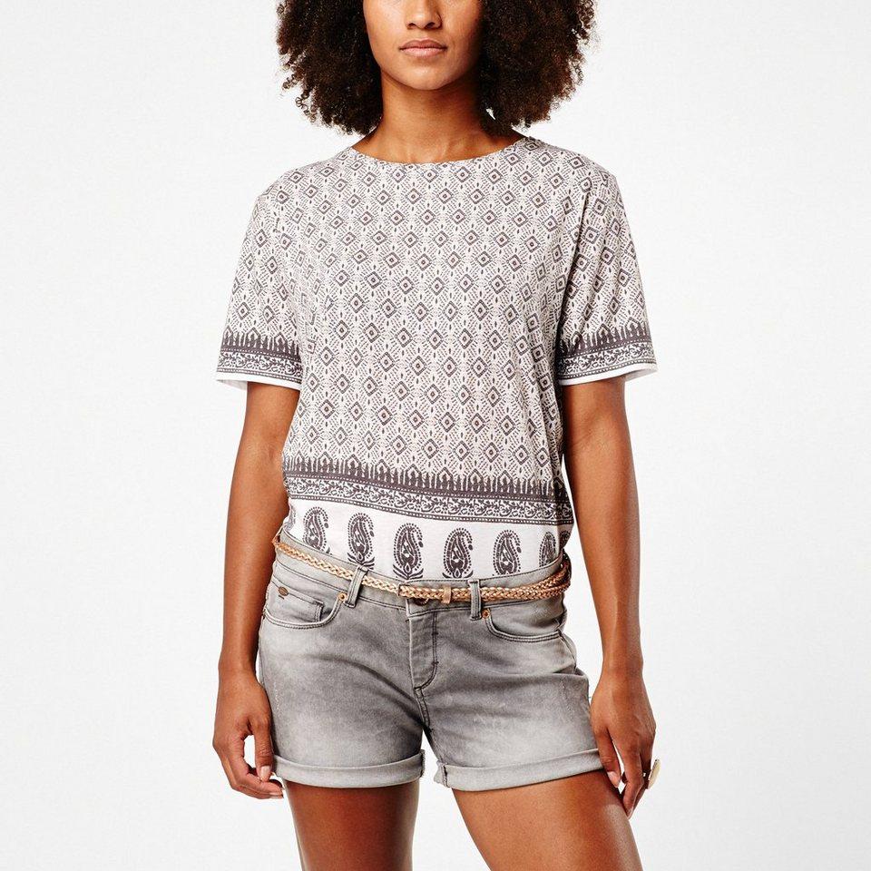 O'Neill T-Shirt kurzärmlig »Indian« in Weiss mit blau